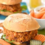 Vegan Sloppy Joes (with Baked Onion Rings)
