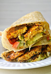 Chipotle Blackened Tempeh Wraps