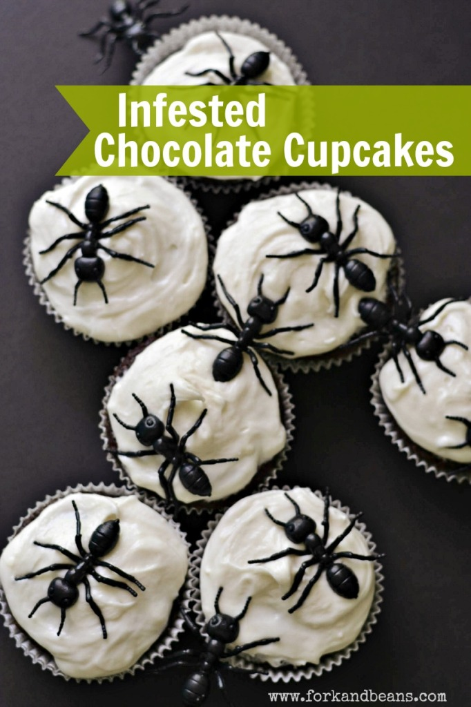 Infested Chocolate Cupcakes