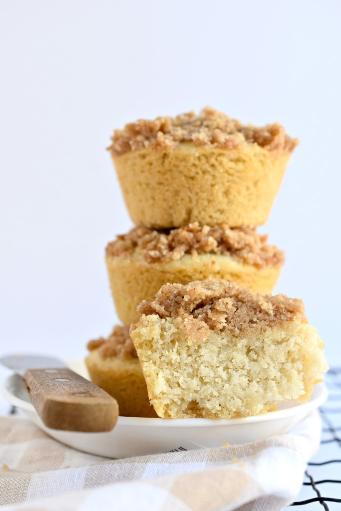 These copycat Cinnamon Streusel Mini Coffee Cakes happen to be DELICIOUS and made without gluten, eggs, and dairy!