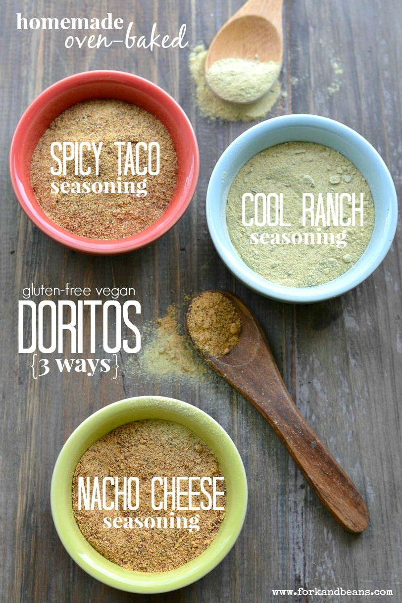 Wanting to skip the artificial ingredients? Make these homemade vegan Doritos (3 different flavors) that will have your kids licking their fingers for more!