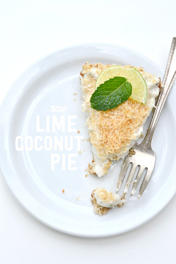 Raw Lime Coconut Pie