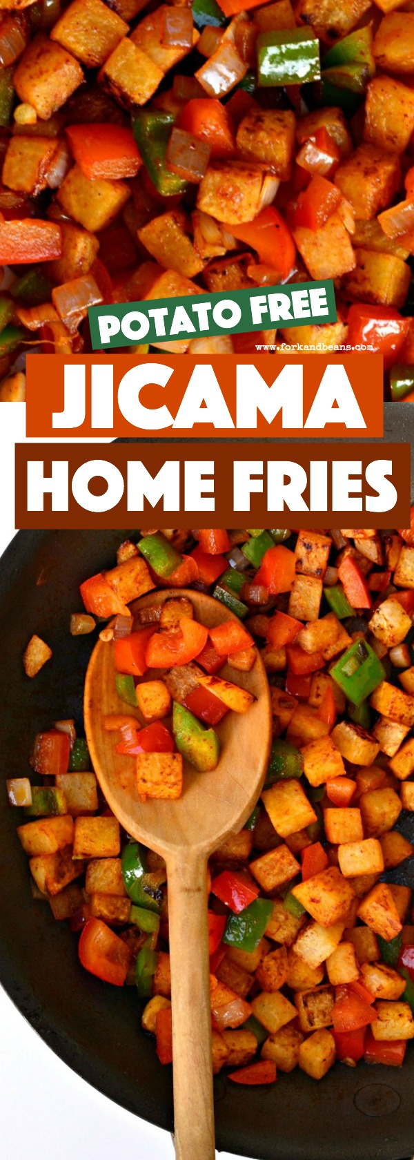 Jicama Home Fries are the perfect no potato option when you are looking for a nightshade-free breakfast.