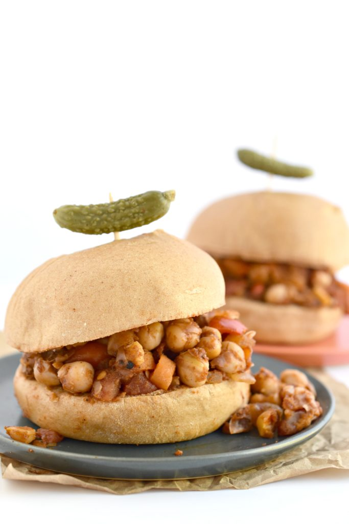 Summer is here so make this classic kid-friendly sandwich into a barbeque-inspired meal with these BBQ Chickpea Sloppy Joes.