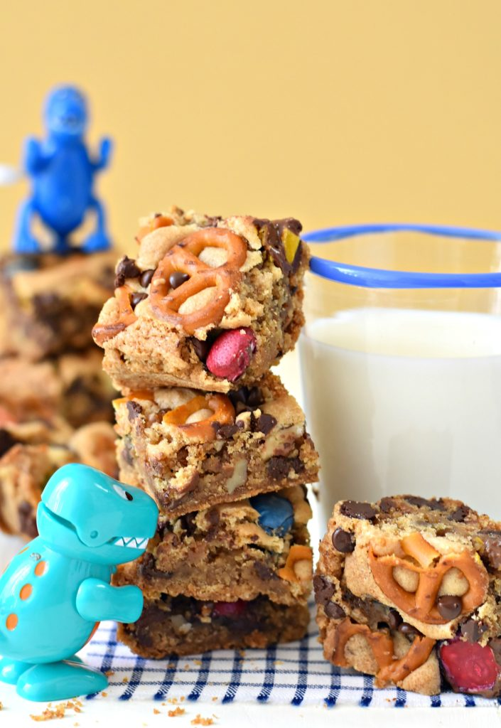 Packed with walnuts, pretzels, & nondairy chocolate, these Loaded Gluten Free Cookie Bars (also made without eggs!) make allergen-friendly dreams come true.
