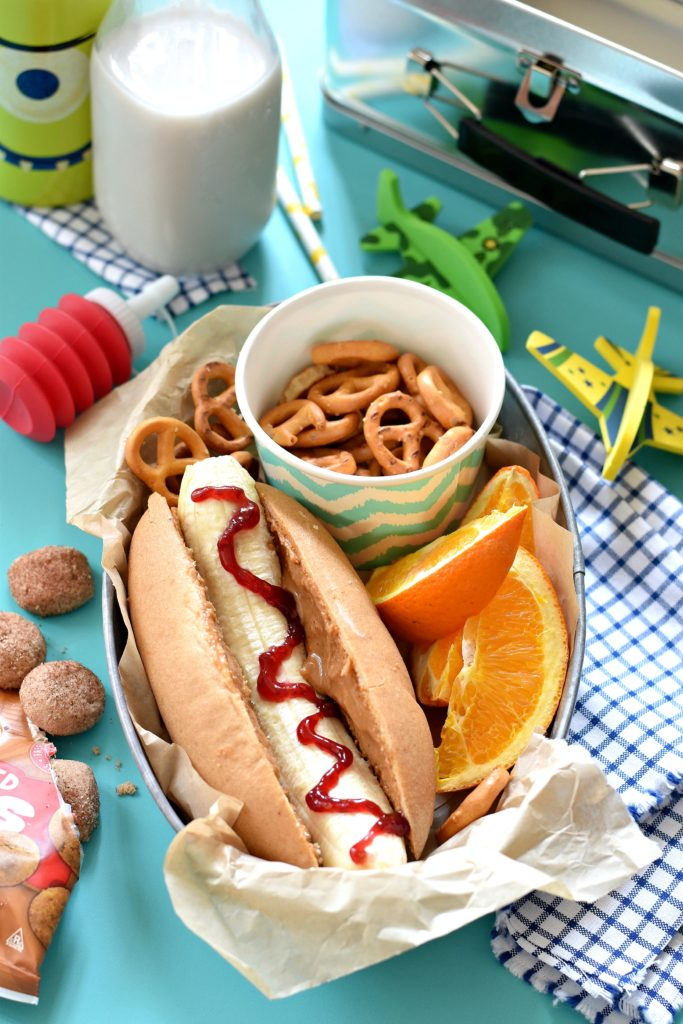 PB&J Hot Dogs: Put a smile on your kid's face while you think outside of the lunchbox with these 10 Creatively Plant Based Lunchbox Ideas!