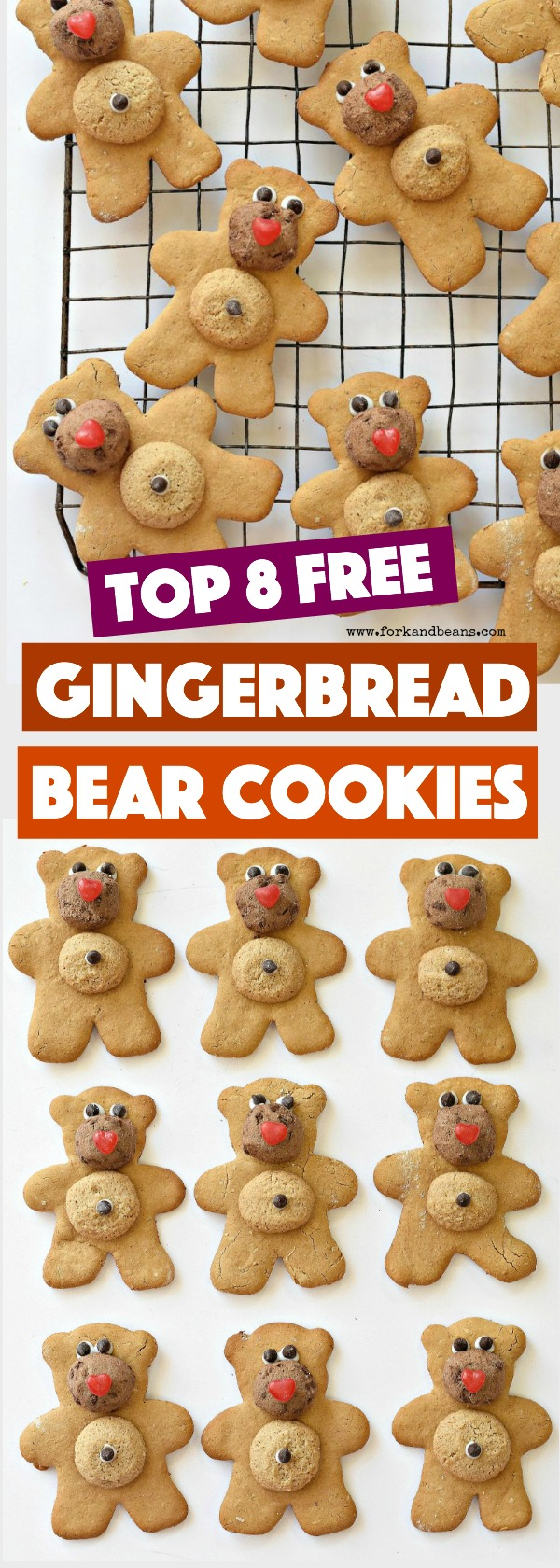 Make your holidays special for your little ones with food allergies with these Top 8 Free Gingerbread Bears.