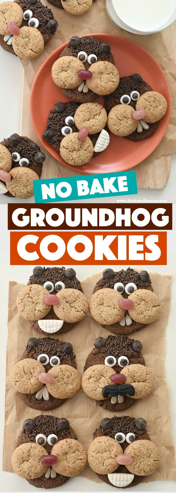 Celebrate Puxatawny Phil's prediction with your kids with these easy, no bake Groundhog Day Cookies