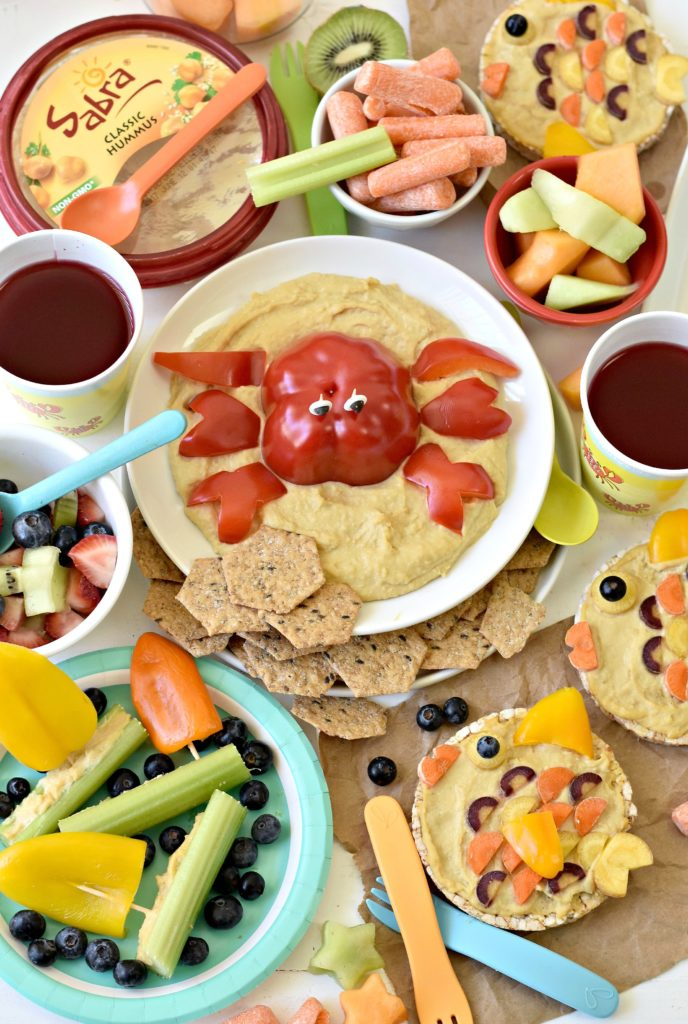 Spark your kids' imaginations this summer with these three healthy and creative Ocean themed snack ideas using hummus and fresh veggies.
