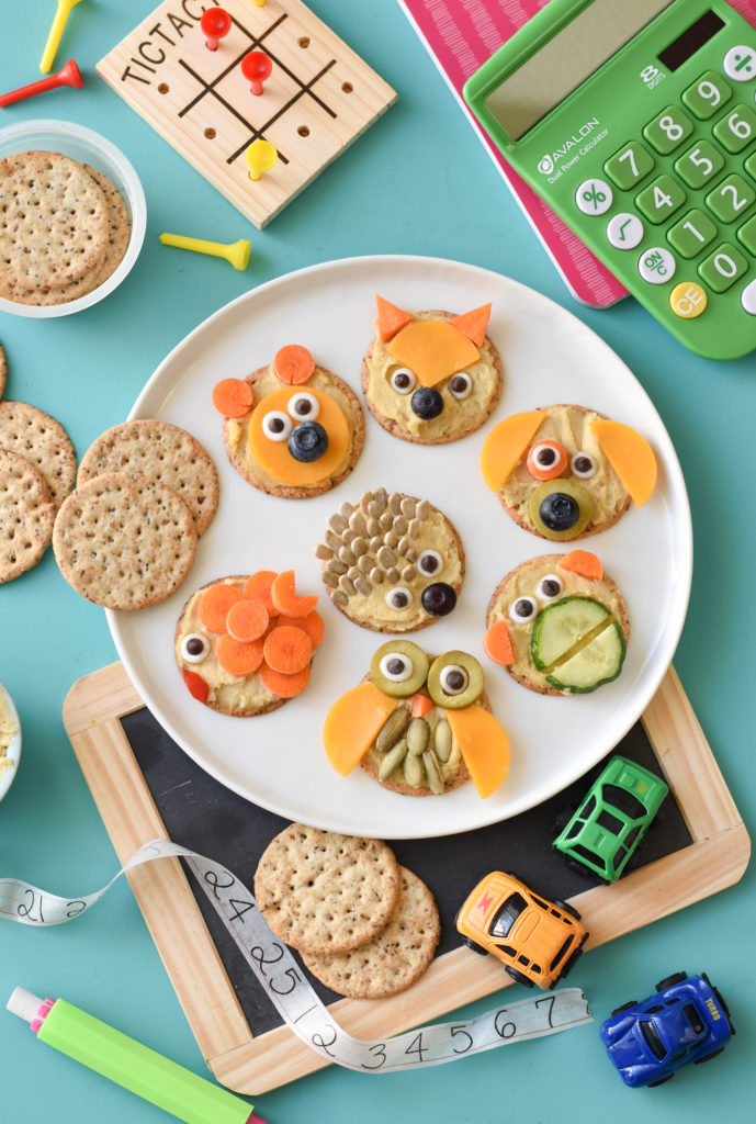 Make an after school snack FUN by taking Simple Mills crackers and turning them into a work of art with these Animal Cracker Snackables!
