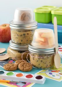 Made with garbanzo beans, these Cookie Dough Hummus Lunchables are a healthier treat option to throw into your kid's lunchbox!