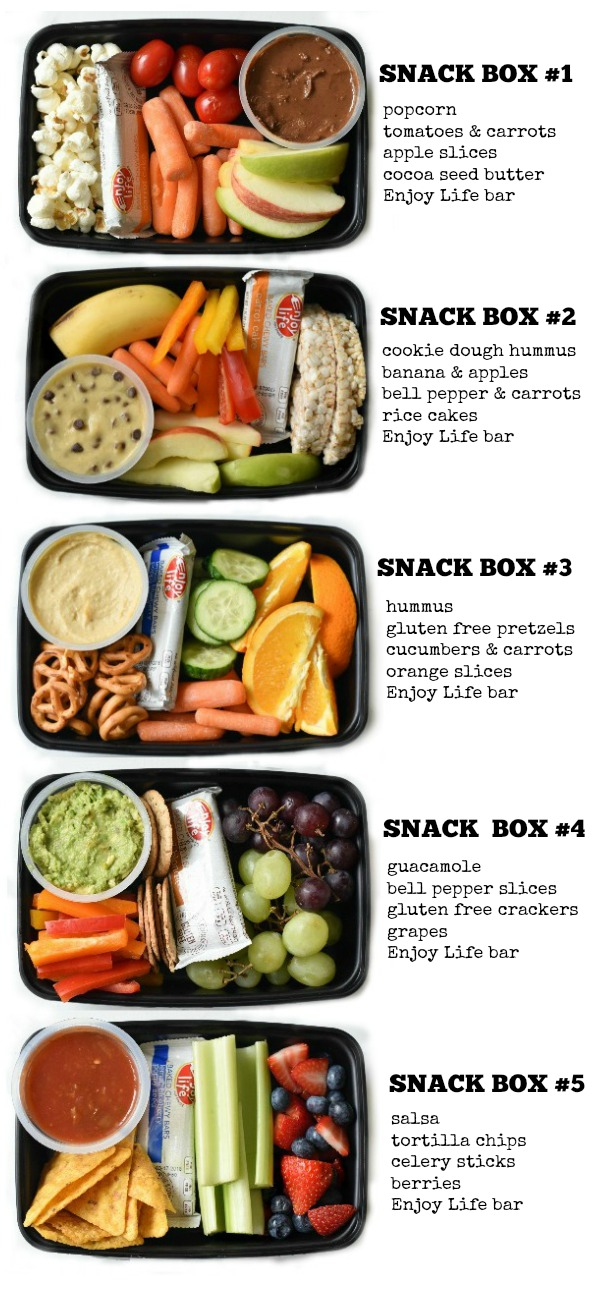 Kids Snack Bento Boxes Fork And Beans